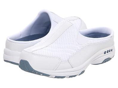 7e983fe490b Easy Spirit Traveltime Womens Slip On Sneaker Clogs White Lt Blue 6
