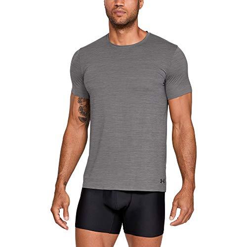 - Under Armour Men's ArmourVent Short Sleeve Crew Tee, Charcoal Light Heath (020)/Black, XXXX-Large