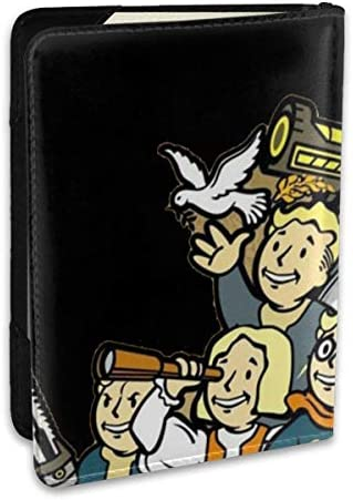 Fallout フォールアウト パスポートケース メンズ 男女兼用 パスポートカバー パスポート用カバー パスポートバッグ ポーチ 6.5インチ高級PUレザー 三つのカードケース 家族 国内海外旅行用品 多機能
