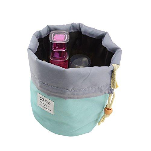 Rancco® Kulturbeutel Kosmetik Tasche Kulturtasche, Faltbar Reise Urlaub Cosmetic Storage Waschtasche/ Kosmetiktasche zum Aufhängen mit vielen Fächern(Grün)