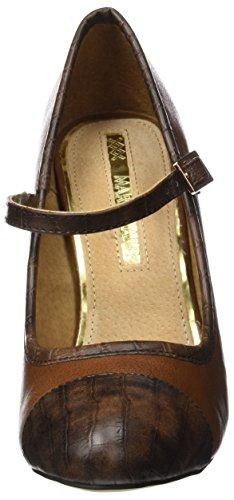 MTNG Originals 61314, Zapatos de Tacón con Punta Cerrada para Mujer Marrón (CROCO CHOCOLATE / BOMBEADO CASTAÑO)