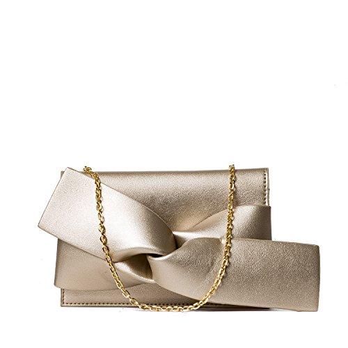 Handbag Republic Women Handbag PU Leather Fashion Evening Clutch Bag Messenger Style With Cute Bow (Bow Clutch)