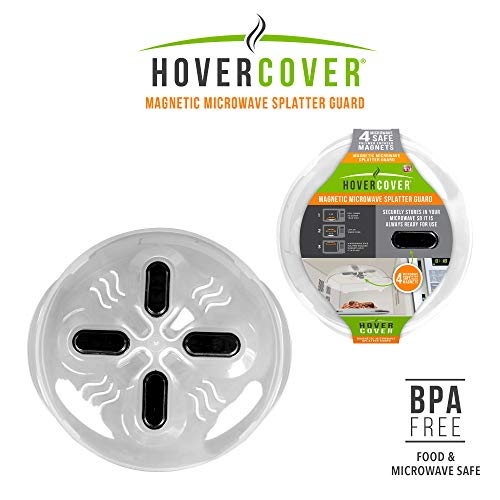 Hover Cover Magnetic Microwave Splatter Lid with Steam Vents Cover | Dishwasher Safe BPA Free | 11.5 Inch