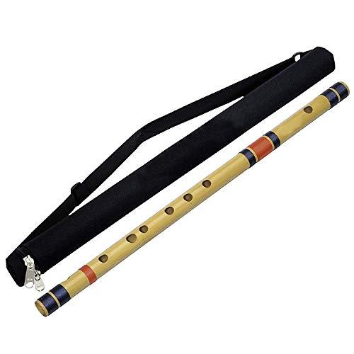 Beginners/Professional Bamboo Transverse Flutes Indian Bansuri (C Tune) Woodwind Musical Instruments 28 Inch Free bansuri beg
