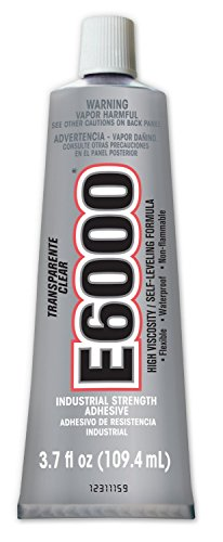 Eclectic Products 220011 2 Pack 3.7 oz. E-6000 High Viscosity Multi-Purpose Adhesive, Clear