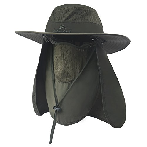KOOLSOLY Outdoor Sun Cap For Men Women,Fishing Hat UPF 50+ UV Sun