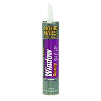 Liquid Nails Window Glazing Silicone Acrylic Paintable 10 Oz
