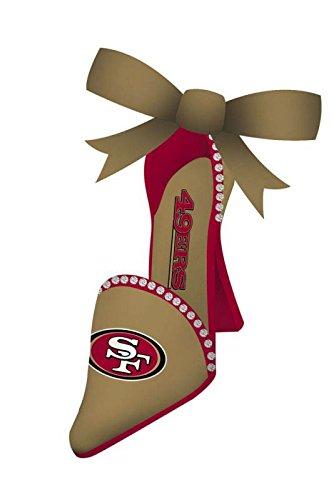 San Francisco 49ers High Heeled Shoe Ornament San Francisco 49ers Ornaments