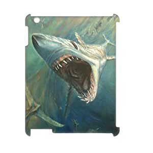 ALICASE Diy Cover Custom Case Deep Sea Shark For IPad 2,3,4 [Pattern-1]
