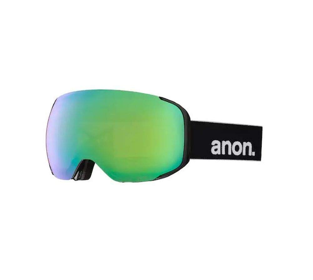 Anon M2 MFI Snow Goggles Black with Sonar Green and Sonar Infrared Lens + Facemask