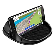 Loncaster Car Phone Holder, Car Phone Mount Silicone Car Pad Mat for Various Dashboards, Anti-Slip Desk Phone Stand Compatible with iPhone, Samsung, Android Smartphones, GPS Devices and More