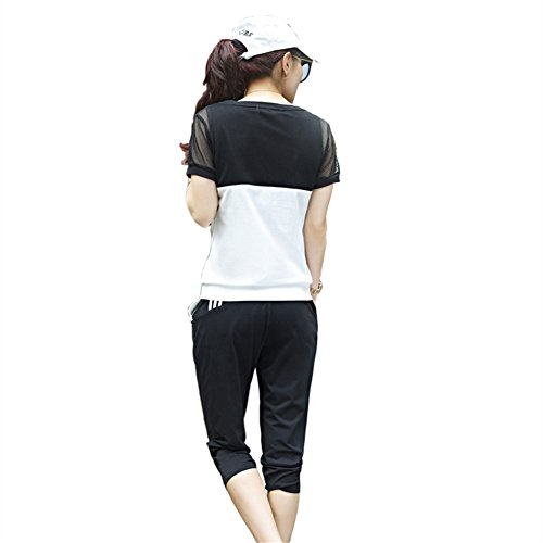 TLZC Women's Summer Outdoor Sport Tops and Pants 2 Piece Sets Tracksuits