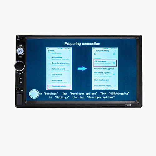 Camecho Double Din Car Stereo, Mirror Link 7'' HD Bluetooth Player Digital Monitor Touchscreen, Support USB/FM/TF/MP5 Multimedia 2 din Mobile Phone interconnection Car Backup Camera+ Remote Control by Camecho (Image #5)