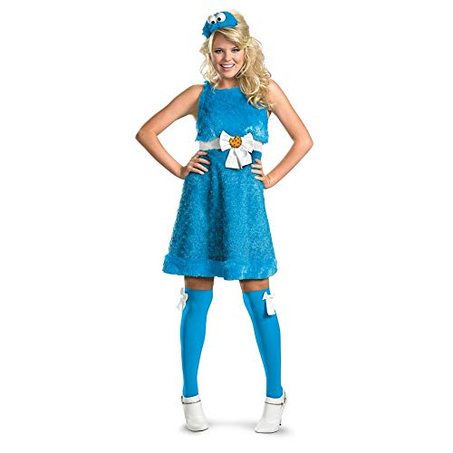 Disguise Women's Sesame Street Cookie Monster Sassy Costume, Blue, Small