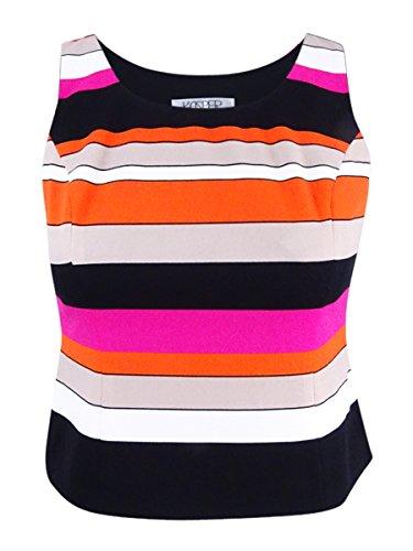 - Kasper Women's Printed Crepe Colorblock Cami, Pink Perfection Multi, 4