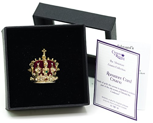 Crown Miniature - Swedish Crown Jewels The Crown of Eric of Sweden Miniature Crown, Hand Made in UK by Crowns&Regalia, Studded with Swarovski Elements