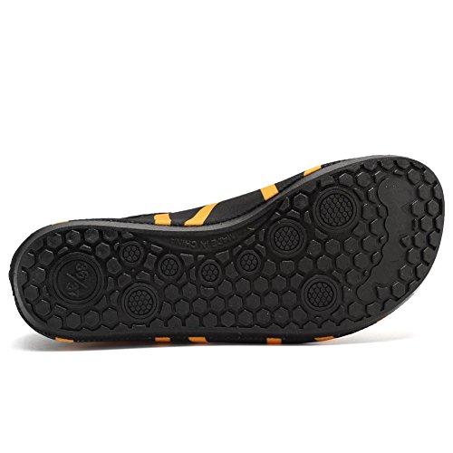 EQUICK Damen Wasserschuhe Quick-Dry Verschnaufpause Sport Skin Schuhe Barfuß Rutschfeste Multifunktionssocken Yoga Übung T. Orange
