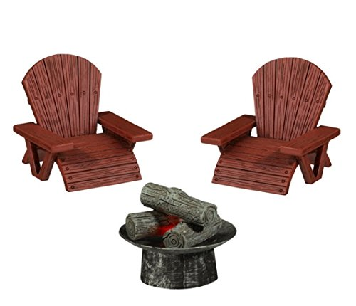 Grasslands Road Fire Pit & Two Chairs Set