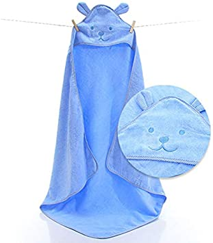 Sumerlly Baby Hooded Bath Towel with Big Ears Soft Thick Cotton Bath Suit for Girls and Boys Infants Good Choice Baby Shower
