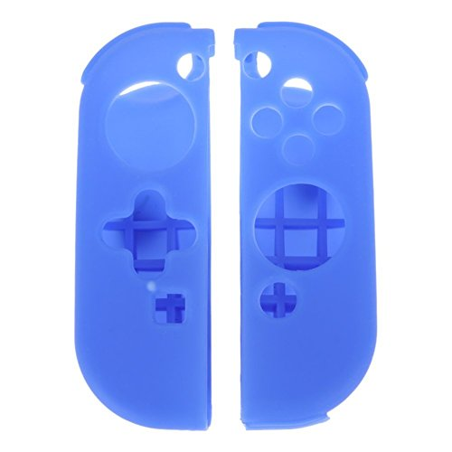 Protective Silicone Case Cover Skin for Nintendo Switch Left and Right Controllers-Blue (Bl Switch Box)