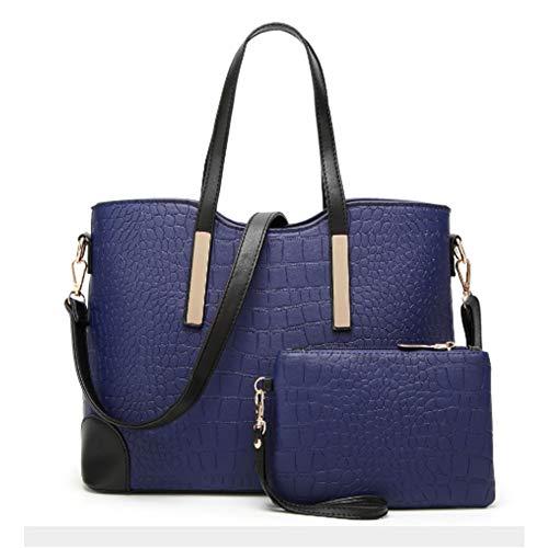 Marino Shoulder Gran Bolsos Capacidad Azul Bags Cuer Mujer Casual Audburn De Totalizador Hombro ZBRnw7x