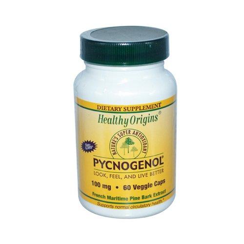 New - Healthy Origins Pycnogenol - 100 mg - 60 Vegetarian Capsules
