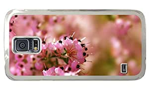 Hipster on sale Samsung Galaxy S5 Case heather flower PC Transparent for Samsung S5