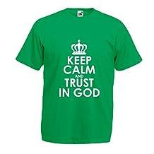 T shirts for men Trust in God! Jesus shirt christian gifts jesus christ clothing