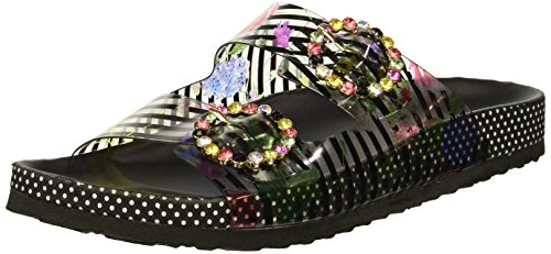 Betsey Johnson Women's Misty Slide Sandal, Black/Multi, 7 M US from Betsey Johnson