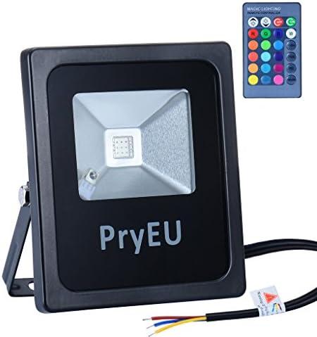 PryEU Foco proyector LED RGB 10W, cambio de 16 colores y 4 efectos ...