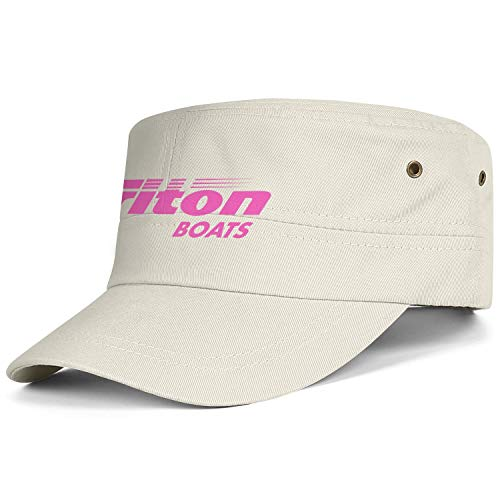 Men Military Hats Triton-Boats-Fishing-Pink-Breast-Cancer- Cameosa Sports Strapback Adjustable