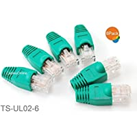 CablesOnline 6-Pack 10/100 4-Pair Ethernet Green Loopback Plugs, TS-UL02-6