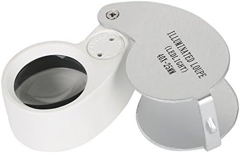 TRIXES 3 Set joyeros Lupa lente de cristal 30, 40, doble 30/60 LED luz lupa: Amazon.es: Salud y cuidado personal