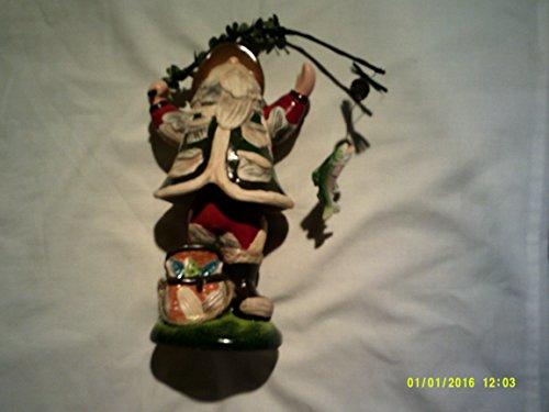 Sant Cluas fishing figurine