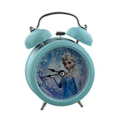 Disney Frozen Elsa Childrens Alarm Clock, Metal, Multicoloured, 90 x 110 mm