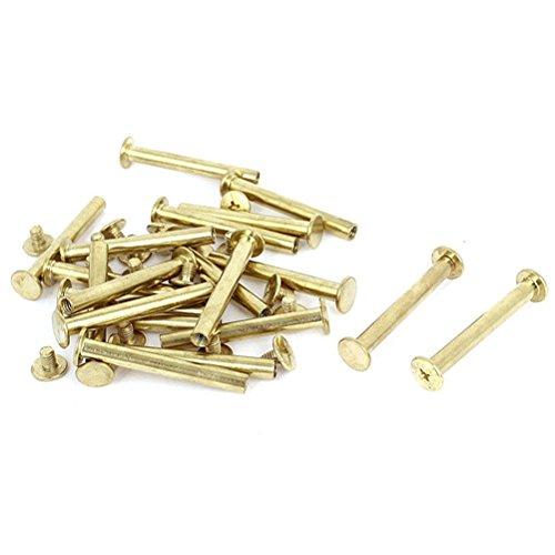 Ucland Binding screw Scrapbook Leather 5x40mm Brass Plated Binding Chicago Screw Post 20pcs