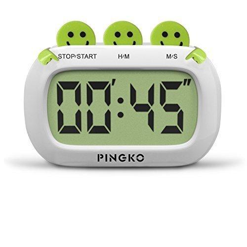 4 opinioni per PINGKO Timer Digitale da Cucina Design Fashion con Tasti Grandi Allarme Forte-