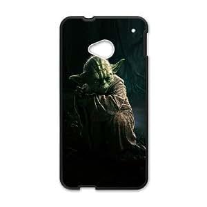 HTC One M7 Cell Phone Case Black Star Wars Yoda Y3417226