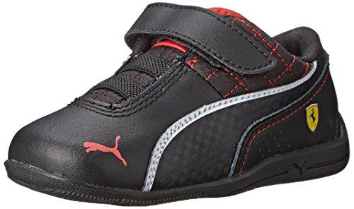 PUMA Drift Cat 6 L Ferrari V Kids Sneaker (Infant/Toddler/Little Kid), Black/Black/White, 12 M US Little Kid ()