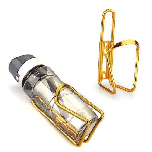 TOMOUNT Bike Bicycle Cycling Mountain Sport Water Bottle Aluminum Cage Holder Gold
