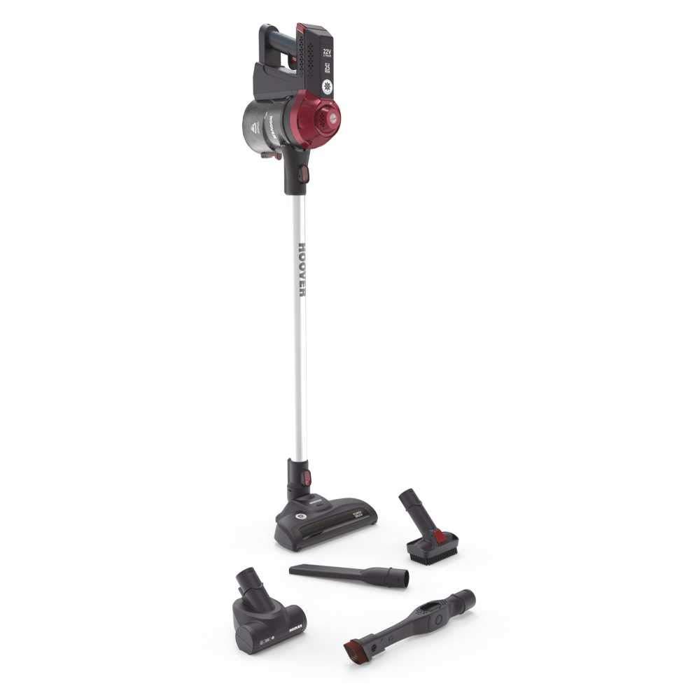Hoover FD22RP Freedom 2IN1 Scopa Elettrica Senza Fili, Grigio e Rosso