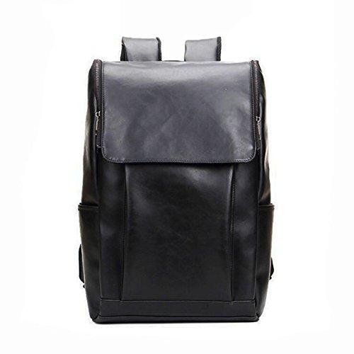 New Vintage Mens Leather Backpack Shoulder Bag Messenger Rucksack Laptop Book School Bags  Black