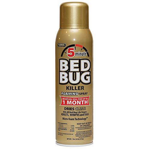 Harris 5-Minute Bed Bug Killer Foaming Aerosol Spray, 16oz