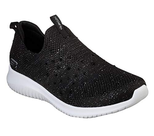 Sneaker Ultra Donna Nero Bksl thrive black Silver Skechers Flex Infilare Up xwIOcqA7