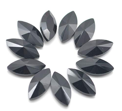 Rhinestone Black Glass - Catotrem Horse Eye Shape Crystal Clear Glass Rhinestones Pointback Fancy Stones Inlay for Necklace Wedding Dress Decorations7x15mm(50pcs-Black)