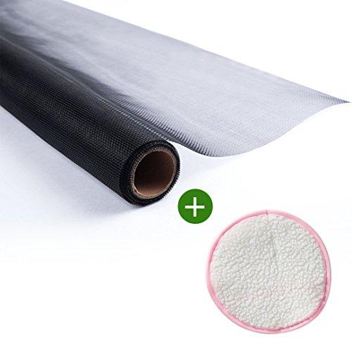 Shatex Roll Fiberglass Mosquito Net,WindowScreen,Mesh Net Insect Barrier with Clean Gloves36