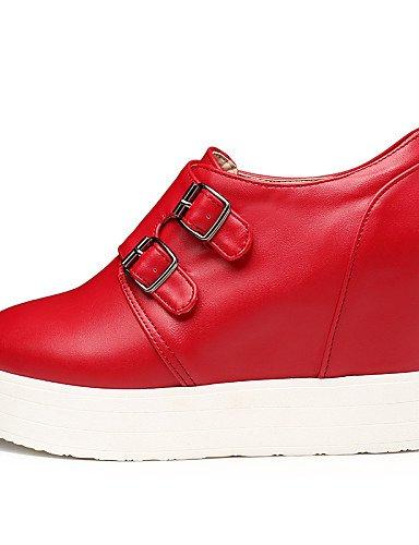 us10 Rouge 5 Décontracté Femme Extérieure Noir Blanc Plateforme Uk8 5 Eu42 Chaussures Cn43 Hug Talons Similicuir Red Njx OYqxgU77