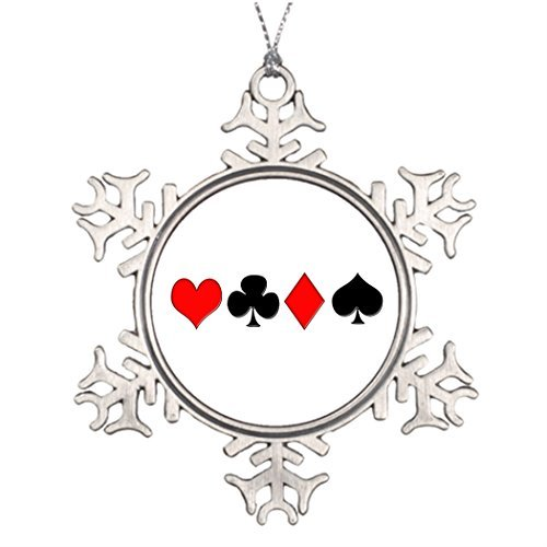 Metal Ornaments Tree Branch Decoration Poker Suits Decorating Christmas Tree Ideas Large Christmas Tree -