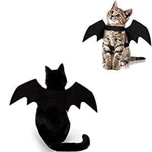 Cat Halloween Costume Bat Wings Pet Apparel Halloween Party Dress Up Accessories for Cat Small Dogs Puppy Kitty Kitten…