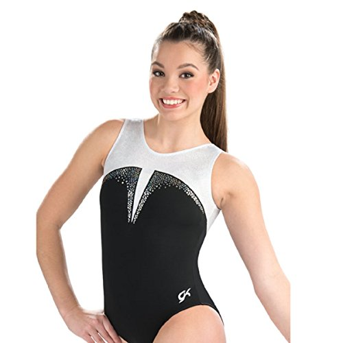 GK Elite Black Tie Sparkle Tank Leotard Child Large CL by GK Elite